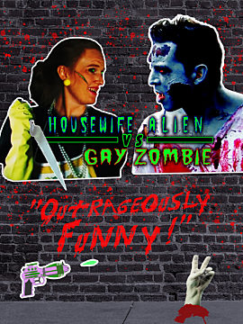 Housewife Alien vs Gay zombie